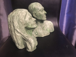 Bust of a terracotta couple