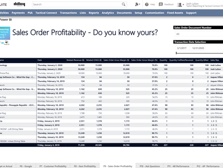 NetSuite Sales Order Profitability