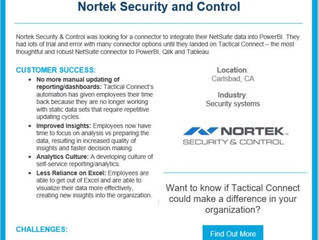 NetSuite + PowerBI Love Story: Nortek Security and Control