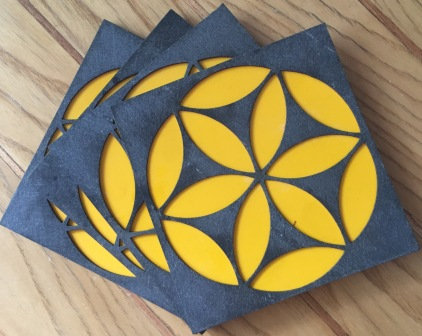Circling Coterie Coasters