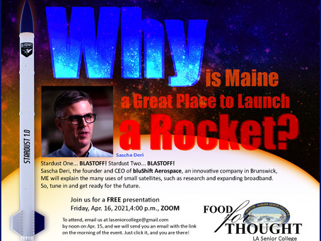 Why is Maine a Great Place to Launch a Rocket?