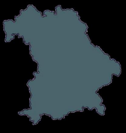 Landkarte Bayern mit Standortangabe