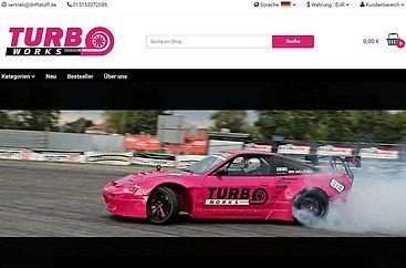 Online Shop Turboworks - Agentur Donau