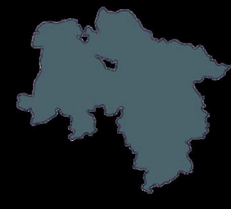 Landkarte Niedersachsen mit Standortangabe