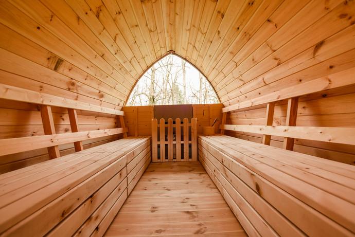 Baltic Sauna vista bosco