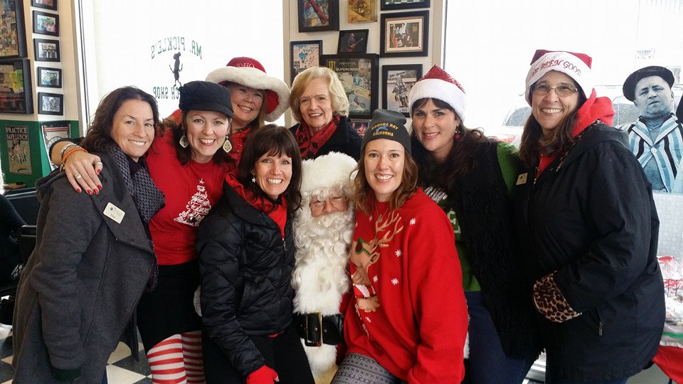 pickle fab women and santa