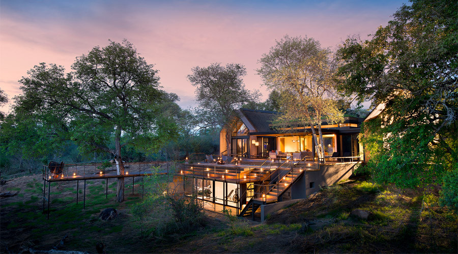 Exterior view of Lion Sands Ivory Lodge in the Kruger Park