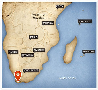 CAPE TOWN MAP LCATION