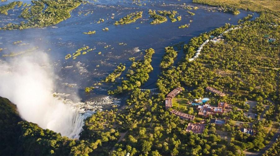 Vic Falls aerial view