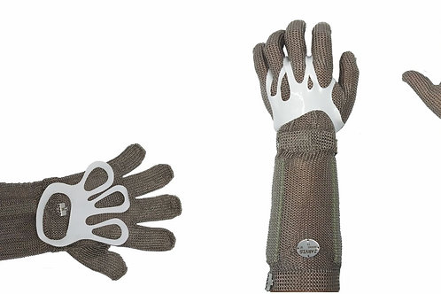 (1402015) STAINLESS STEEL MESH GLOVE WITH CUFF SIZE 15 CM, Size L