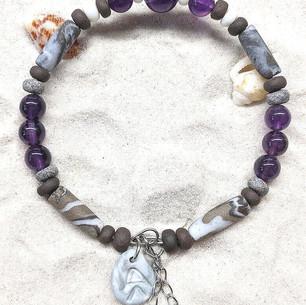 Bracelet Céramique Améthystes