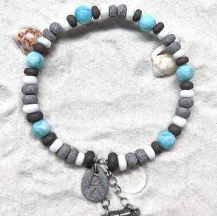 Bracelet Céramique Amazonites