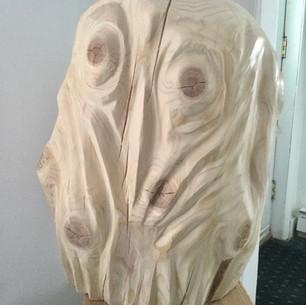 Hibou bûche de bois