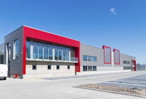 Start - newly build modern red office bu