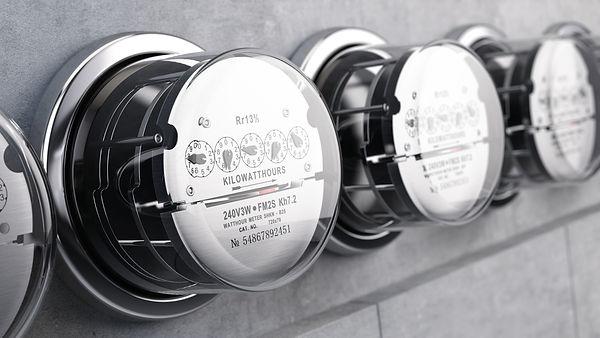 Kilowatt hour electric meters, power sup