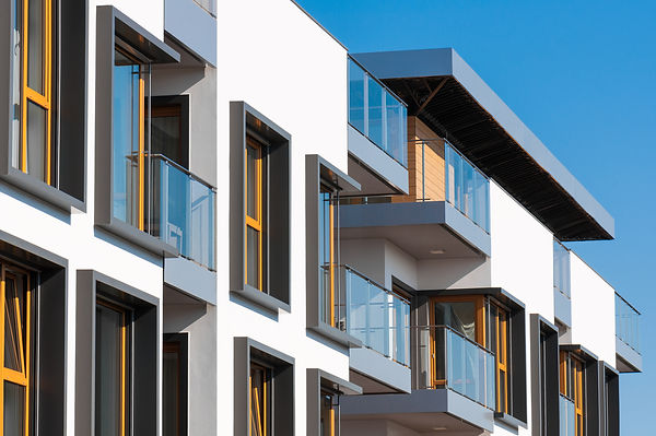 Start - New modern architectural buildin