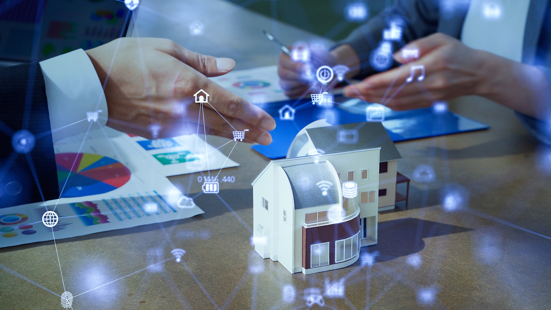 House development concept. Smart house.