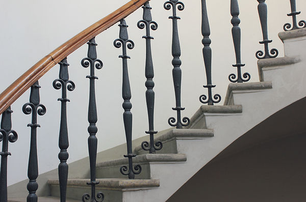 Staircase Handrailing in Old Historic Bu