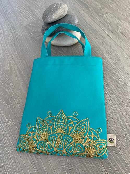 Pochette pour livre - Turquoise mandala