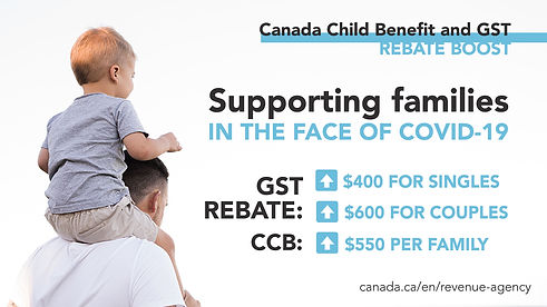 coronavirus child benefit and gst rebate