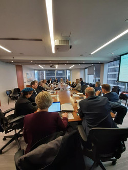 BC caucus members meeting with aquacultu