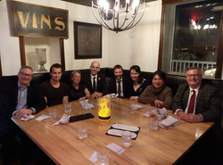 friendly dinner with members of the Cana