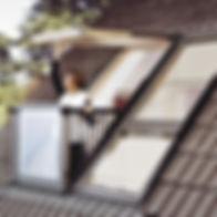 Pose et installation de balcon Velux en Savoie, par la société Boscarato Charpente