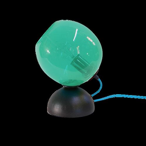 Teal Mod Orb Table Lamp