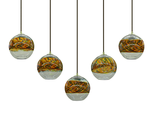 sunset band on clear blown glass pendant lights art glass pendant lighting
