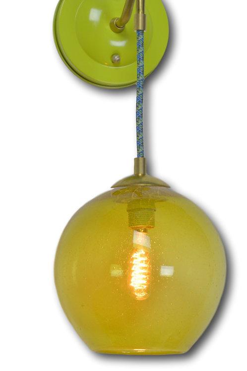 Lime Gumball Fiesta Blown Glass Wall Sconce
