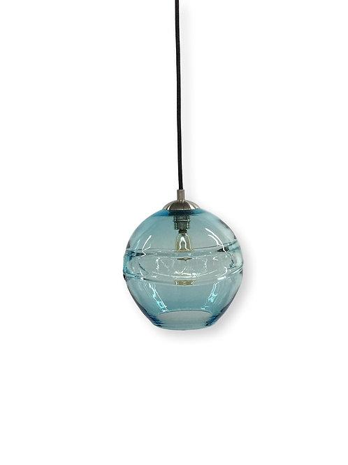 Aqua Blue Banded Pendant Light