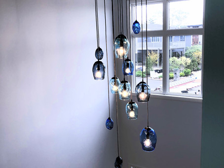 Beach House Glass Chandelier