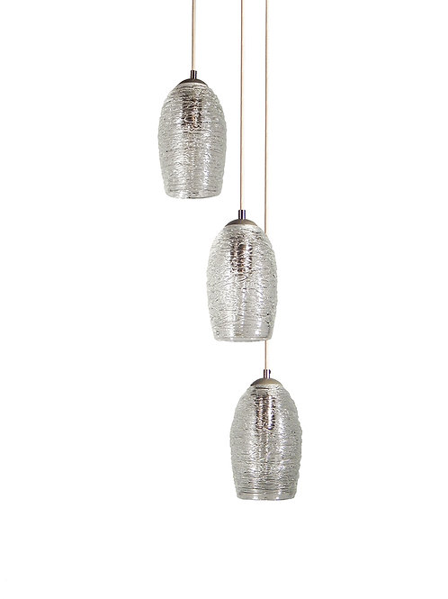 Clear Cascading Cocoon Cluster Pendant