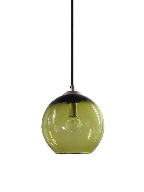 Olive Hand Blown Glass Gumball Globe Pendant Lights