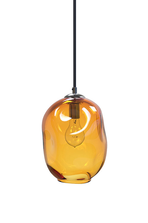 Gold River Rock Hand Blown Glass Pendant Light