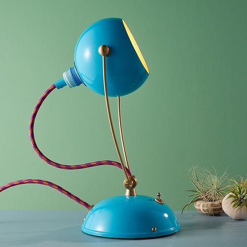 Medium Pigeon Blue Fiesta Pod Table, Desk, Bedside Lamps