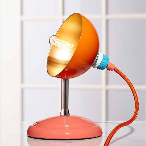 Small Orange/Coral Fiesta Pod 'Sprouts' Table, Desk, Bedside Lamps