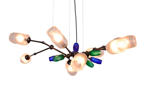 Customized Blown Glass Chandelier