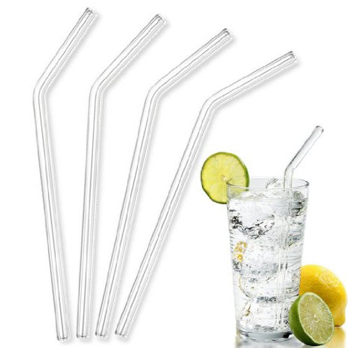 The down-low Clear Glass Sustainable Drinking Straw-