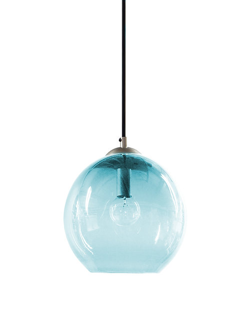 Aqua Glass Hand Blown Classic Globe Pendant Lights