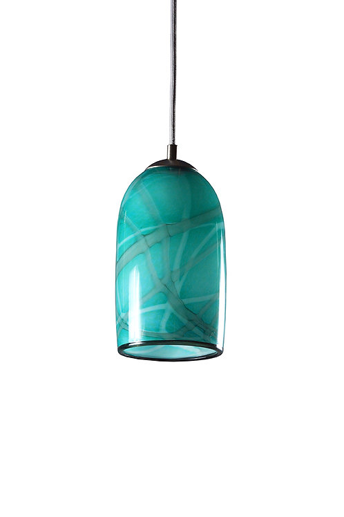 Teal with Grey Milky Way Pendant Light