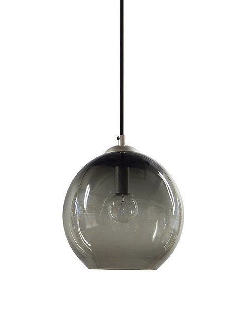 Smoke Gray Glass Hand Blown Classic Globe Pendant Lights