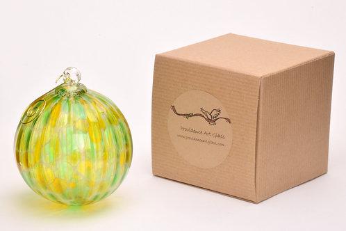 Hand Blown Art Glass Christmas Ball Ornament