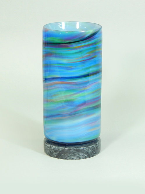 Marbled Blue Table Lamp