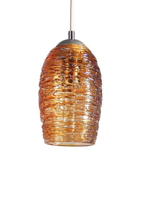 Gold Spun Glass Cocoon Pendant Lighting