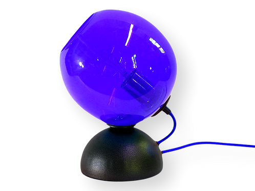 Dark Blue Mod Orb Table Lamp