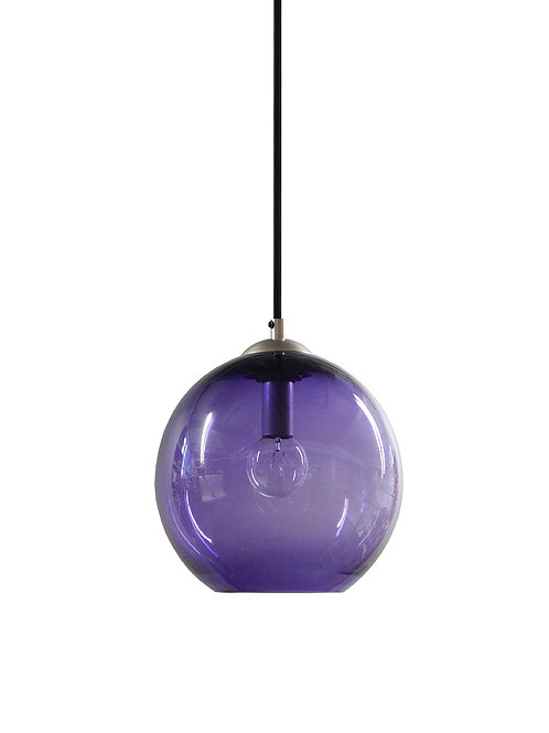 Amethyst Hand Blown Glass Gumball Globe Pendant Lights