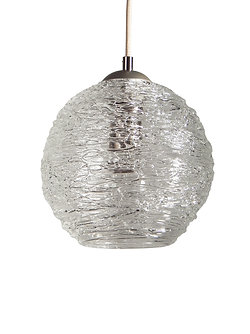 Spun glass pendant lights providence art glass and lighting clear spun glass globe pendant light mozeypictures Images
