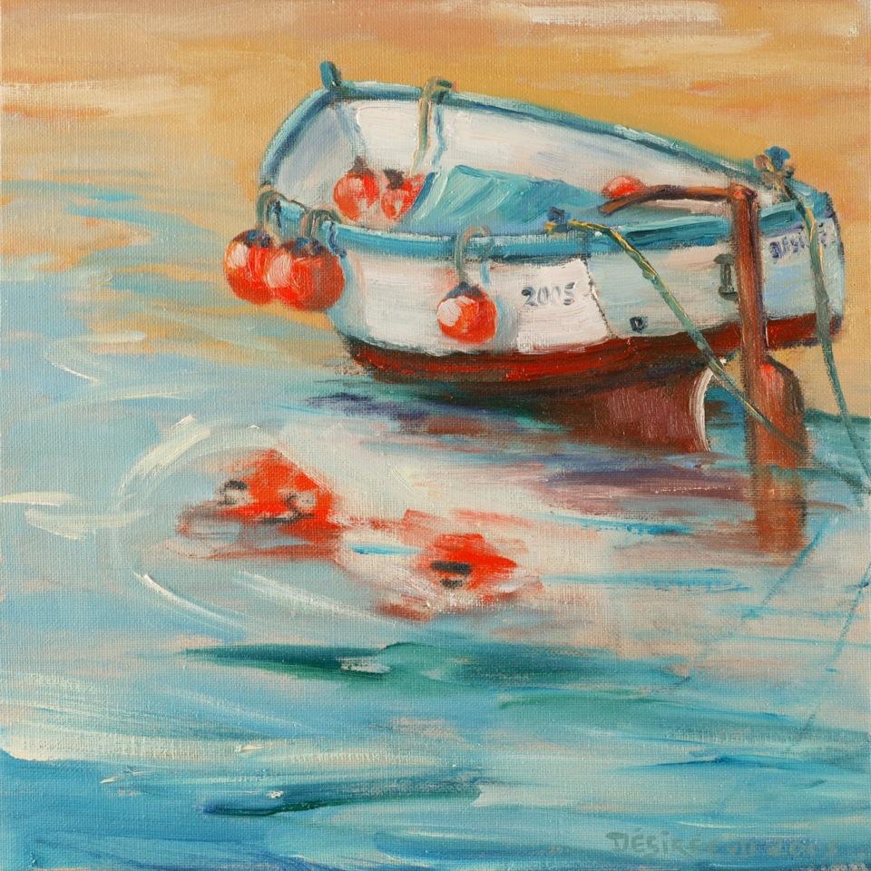 Vissersbootje bij Biarritz