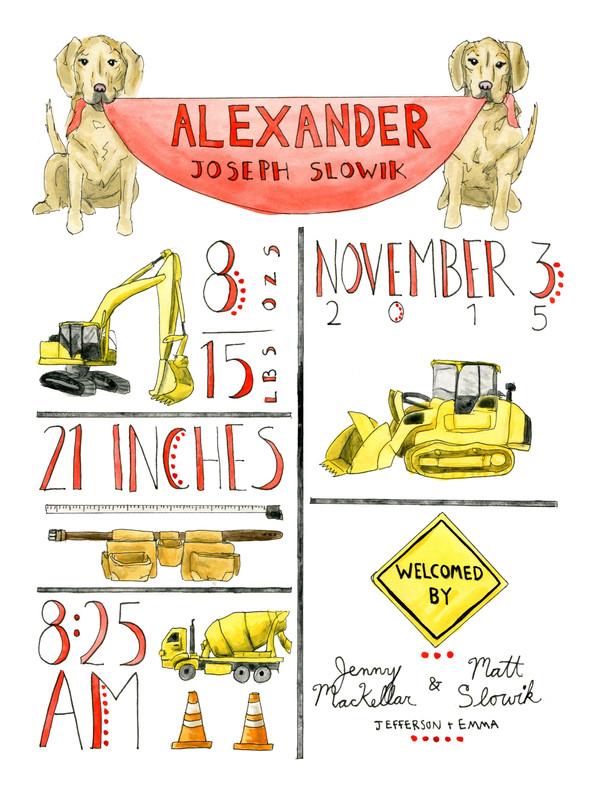 Alexander birth announcement